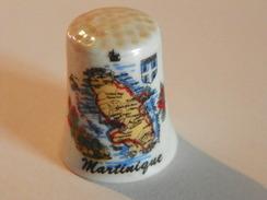 """Dé A Coudre Porcelaine """"La Martinique"""" - Thimbles"""