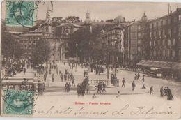 CPA ESPAGNE BILBAO Paseo Arsenal Timbres Stamps 1905 - Vizcaya (Bilbao)