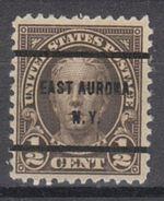 USA Precancel Vorausentwertungen Preo, Bureau New York, East Aurora 653-61 - United States