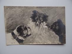 3 CHIENS N° 2640 Loute Et Les Deux Bull-Dogs Par A. Sédillot - Chiens