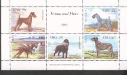 Irland Block 4 Hunde Dogs ** MNH Postfrisch Neuf - Blocchi & Foglietti