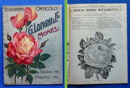 Agraria - Catalogo Rose - Stabilimento Orticolo C. Longhi - Monza - Ed. 1913 - Livres, BD, Revues