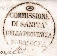 535 : Sceau Franchise Surplombé D'un OEIL FLAMBOYANT Stylisé. Pli De 1832. - Francmasonería