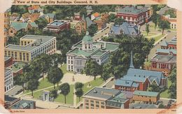 AK Concord General View Of State And City Buildings A Manchester Merrimack County New Hampshire NH United States USA - Concord