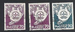 Schweden, 1968, Michel-Nr. 612-613 C+D, Gestempelt - Sweden