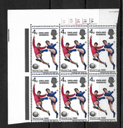 """GB QEII 1966 """"England Winners"""" World Cup In Corner Block Of 6 MNH (5714) - Unused Stamps"""
