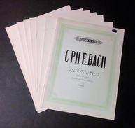 Musica Spartito - C. Bach - Sinfonie N.2 - Partitura E Spartiti Singoli - 1976 - Old Paper