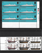 GB QEII 1969 Ships Selection In MNH Blocks (5717) - 1952-.... (Elizabeth II)