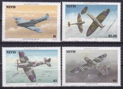 Série De 4 Timbres-poste Neufs** Aviation 50ème Anniversaire Du Spitfire - N° 361/4(Yvert) - St Christophe Et Nevis 1986 - St.Kitts-et-Nevis ( 1983-...)