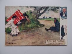 MOTOR CAR FOR SALE DISSOLVING PARTNERSHIP TUCK'S POST CARD Printed In ENGLAND OILETTE - Illustrateurs & Photographes