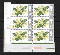 GB QEII 1967 Wild Flowers 1/9d In MNH Corner Block Of 6 (non Phosphor) (5723) - Unused Stamps