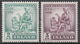 ICELAND   SCOTT NO. 317-18    MINT HINGED    YEAR  1959 - Used Stamps