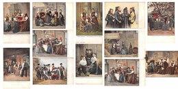 Lot De 12 CPA - Allemagne - Bade Wurtemberg - Scènes Et Types - Illustration Peinture - Ed. Freiburg I. Br. - Freiburg I. Br.
