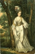 "Old Postcard (about 1910)  Reynolds ""Mrs Carnac"". - Schilderijen"