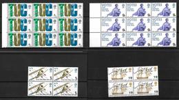 GB QEII 1968 Anniversaries, Complete Set In MNH Blocks  (5731) - Unused Stamps