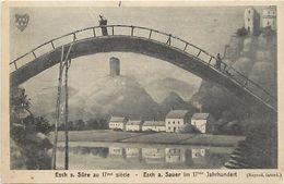 Pays Div -ref J996- Luxembourg - Luxemburg - Esch Sur Sure Au 17eme Siecle - Illustrateurs -dessin Illustrateur  - - Esch-Sauer