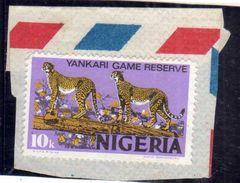 NIGERIA 1973 YANKARI GAME RESERVE RISERVA NATURALE DI ANIMALI 10k USATO USED OBLITERE' - Nigeria (1961-...)
