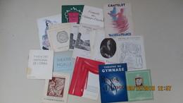 LOT 18 PROGRAMMES THEATRES PARISIENS 1943-1947 - Programs