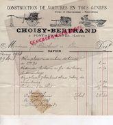 45- PONT AUX MOINES- RARE FACTURE CHOISY BERTRAND- CONSTRUCTION VOITURES -VOITURE-FORGE CHARRONNAGE - 1914 - Transport