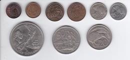 LOTE DE 9 MONEDAS DE NUEVA ZELANDA DE LOS AÑOS 1966 A 1989 - COOK'S CHART - Nueva Zelanda