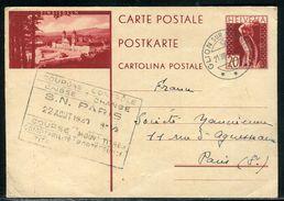 Suisse - Entier Postal De Glion Sur Montreux Pour Paris En 1931 - Ref D208 - Interi Postali