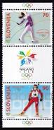 1998, Slowenien, Slovenia,  Mi. 217/18, MNH **, Olympische Winterspiele, Nagano. - Slovenië