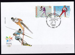 1998, Slowenien, Slovenia,  Mi. 217/18,  FDC, Olympische Winterspiele, Nagano. - Slovenië