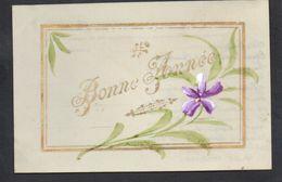 CPA FANTAISIE CELLULOID CELLULOIDE DORURE OR - Art Nouveau Art Déco - Peinte à La Main - Fleurs - Bonne Année -#556 - Nouvel An