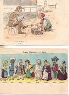 Algérie Lot De 2 Cartes Humoristiques (1) - Algeria