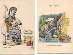 Algérie Lot De 2 Cartes Humoristiques (2) - Algeria