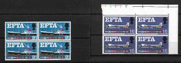 GB QEII 1967 E.F.T.A. Complete Set In MNH Blocks Of 4 (5742) - 1952-.... (Elizabeth II)