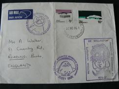 "1976 BEAUTIFUL LETTER FROM ""SCOTT BASE "" TO ENGLAND.. WITH BEAUTIFUL STAMPS..//..BEI TIMBRI SU BASE SCOTT X  INGHILTERRA - Dépendance De Ross (Nouvelle Zélande)"