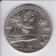 MONEDA DE SAMOA I SISIFO DE 1 DOLLAR DEL AÑO 1977 ROYAL JUBILEE - Samoa