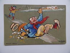 Les SPORTS D'HIVER La GLISSADE Illustrateur CH. BEAUVAIS MOULLOT Marseille Carte Fantaisie Humoristique Humour - Beauvais