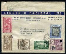 Colombie - Enveloppe Commerciale De Barranquilla Pour Paris En 1959 - Ref D222 - Colombie