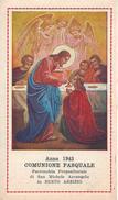 COMUNIONE PASQUALE: ANNO 1943 -  BUSTO ARSIZIO - PARR.: S. MICHELE ARCANGELO - PR - Mm. 68 X 118 - Religione & Esoterismo