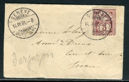 Suisse - Enveloppe De Genève Pour La France En 1883 - Ref D226 - 1882-1906 Armoiries, Helvetia Debout & UPU