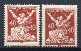 CZECHOSLOVAKIA  1920 , MNH,   DIFFERENT TYPE  I . +  II. - Cecoslovacchia