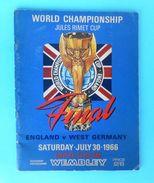 FIFA FOOTBALL WORLD CUP 1966. Final Match England : Germany * ORIGINAL PROGRAMME * Fussball Programm Calcio Programma RR - Books