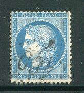 FRANCE- Y&T N°60A- GC 460 (BESSE SUR BRAYE 71) - Marcophilie (Timbres Détachés)