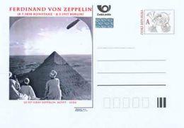Tschech. Rep. / Ganzsachen (Pre2013/32) Ferdinand Von Zeppelin (1838-1917) LZ 129 Graf Zeppelin, Ägypten - Gizeh - Ferien & Tourismus