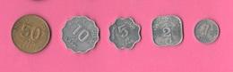 1 2 5 10 50 Laari Maldives Monete - Maldives
