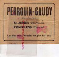 87- SAINT JUNIEN-PUBLICITE  IMAGERIE EPINAL-IMAGE QUESTIONS DEVINETTES- PERROUIN GAUDY-CHAMP DE FOIRE -16-CONFOLENS - Publicités