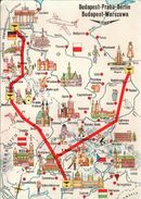 ! 1967 Fluglinien Der Malev, Berlin, Prag, Warschau, Gel. An Den Schweizer Botschafter In Budapest - Aerodrome