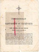 87- LIMOGES- RARE DOCUMENT PENSIONNAT DE SAINT JOSEPH DU SACRE COEUR-LES SOEURS DE LA CROIX-31 ROUTE D' AIXE -1885 ECOLE - Documents Historiques