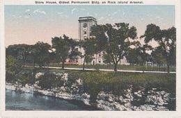 AK Rock Island Arsenal Store House Oldest Bldg A Davenport Moline Galesburg Prophetstown Illinois IL United States USA - Peoria
