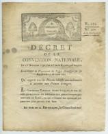 Révolution Française Décret De La Convention Nationale 1792 An Ier De La République . Indemnités Aux Princes étrangers . - Décrets & Lois