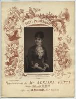 Opéra . Représentations De La Cantatrice Adelina Patti . 1881 . Photoglyptie Goupil . Illustration D'Henri Pille . - Programs