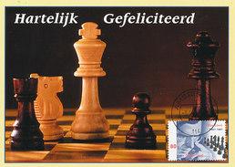 D31988 CARTE MAXIMUM CARD FD 2001 NETHERLANDS - CHESS MAX EUWE CP ORIGINAL - Chess