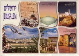 JERUSALEM ISRAEL MULTI VIEW CHAGALL WINDOWS THE KNESSET & MENORAH OLD CITY LARGE FORMAT - Israel
